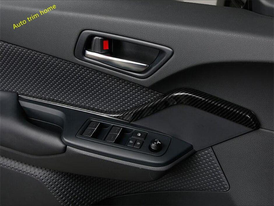 Lapetus Porte Intérieure Poignée Bande Garniture de Couverture Pour Toyota C-HR CHR 2016 2017 2018 2019/en Fiber de Carbone