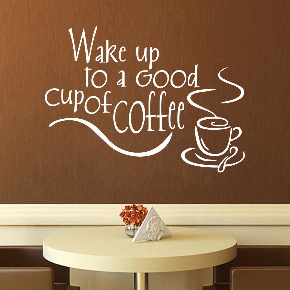 Aliexpress.com : Buy coffee shop Lettter home decor muursticker ...
