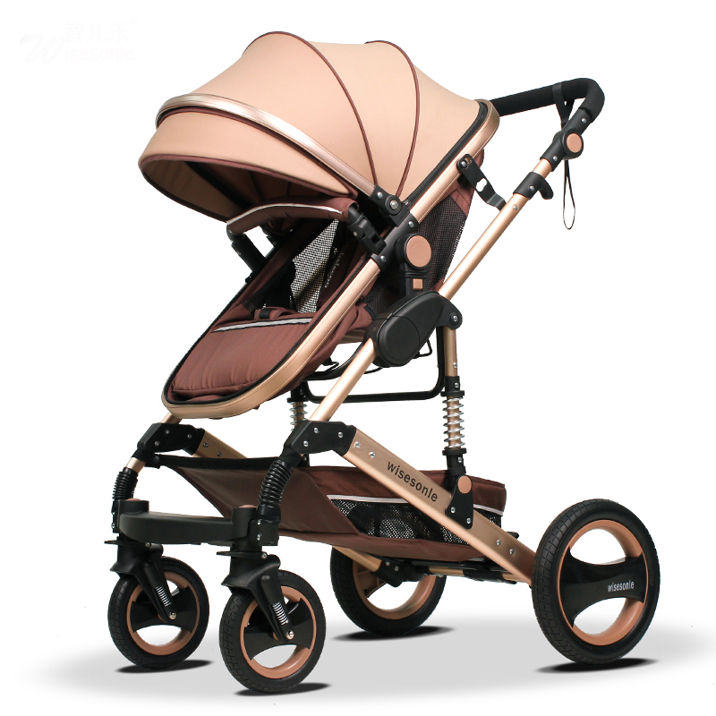 Wisesonle Baby Stroller High Lying Landscape Can Be Folded In Two-way Four Wheel Suspension And Bb Trolley Car babyfond цена