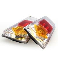 Universal 19 LED 2PCs Truck Trailer Lorry Caravan Stop Rear Tail Indicator Light Lamp 12V Waterproof