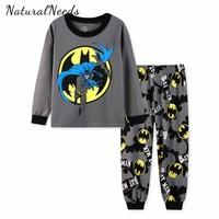 NATURALNEEDS Children's   Pajamas     Sets   Boys Girls Cartoon Batman Sleepwear Kids Cotton Pyjamas Children Clothing Bruce Wayne