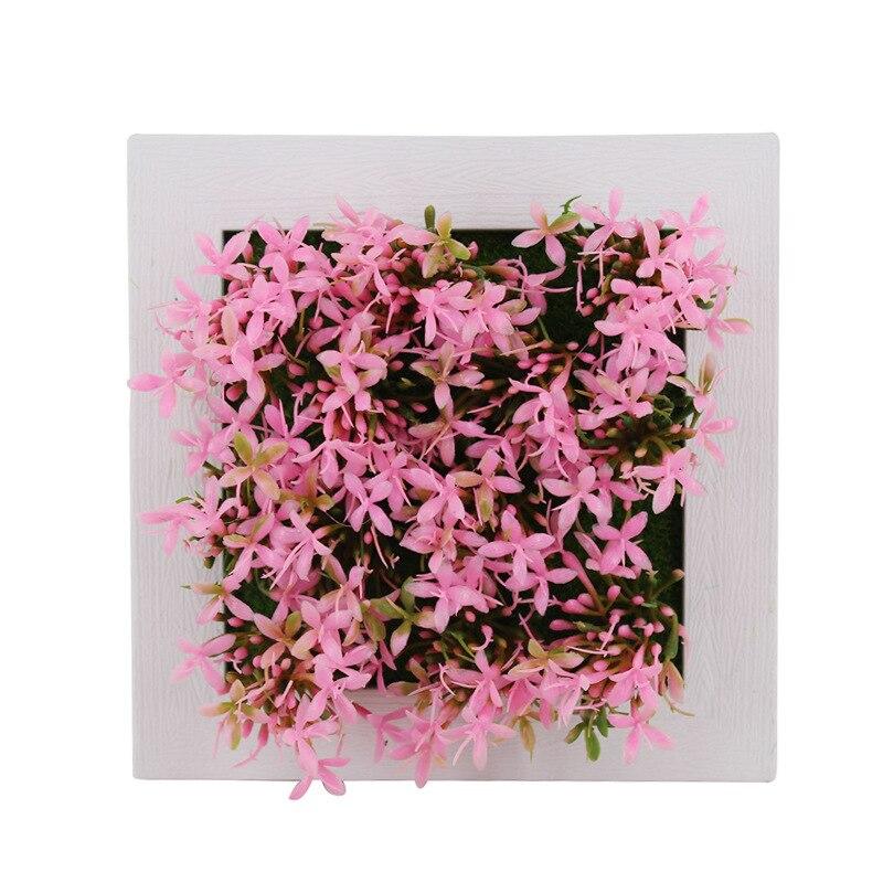 1 Pcs Artificial Plant 3D Creative Succulent Plants Imitation Wood Photo Frame Wall Decoration Artificial Flowers Home Decor
