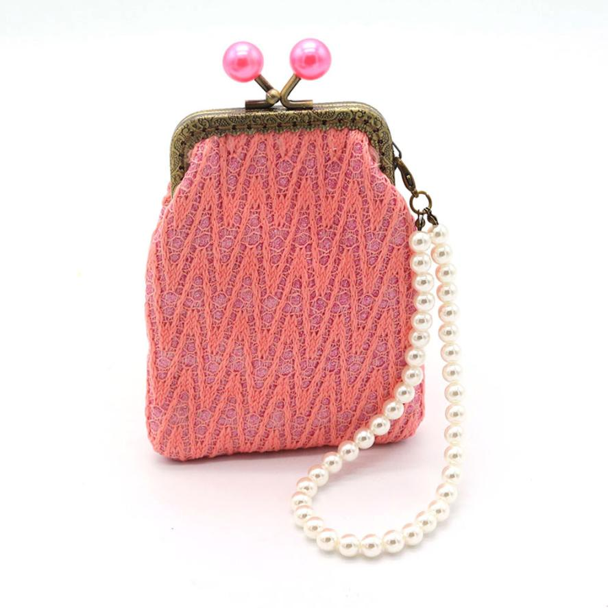 Xiniu bags for women 2017 Women Wallets Small Coin Purses With Pearl Chain  Wallet Hasp Purse Ladies Clutch Bag carteras mujer WM-in Coin Purses from  Luggage ... 5a3e3ae7a45b