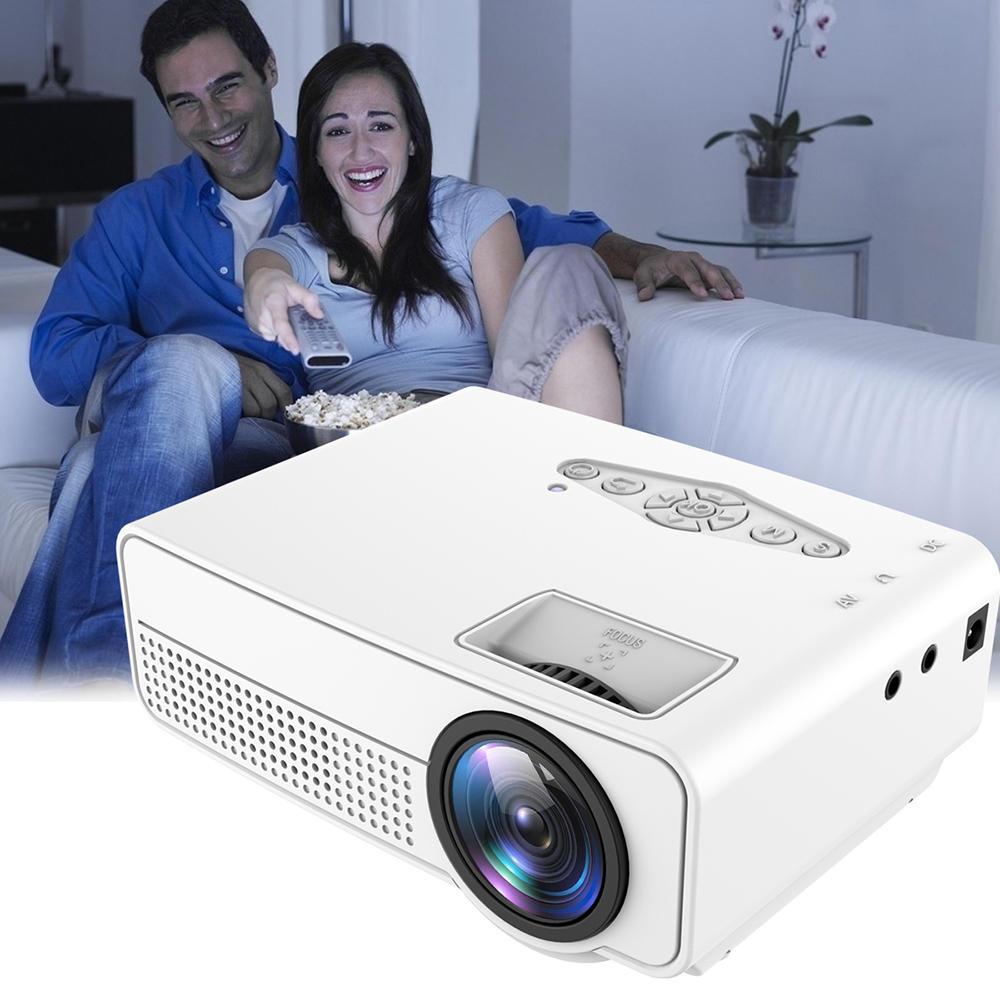 H60 Portable 3d Led Projector Lcd Multimedia Home Cinema: H100 Portable LED LCD Projector Home Theater