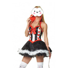 Costume queen size plus hearts of