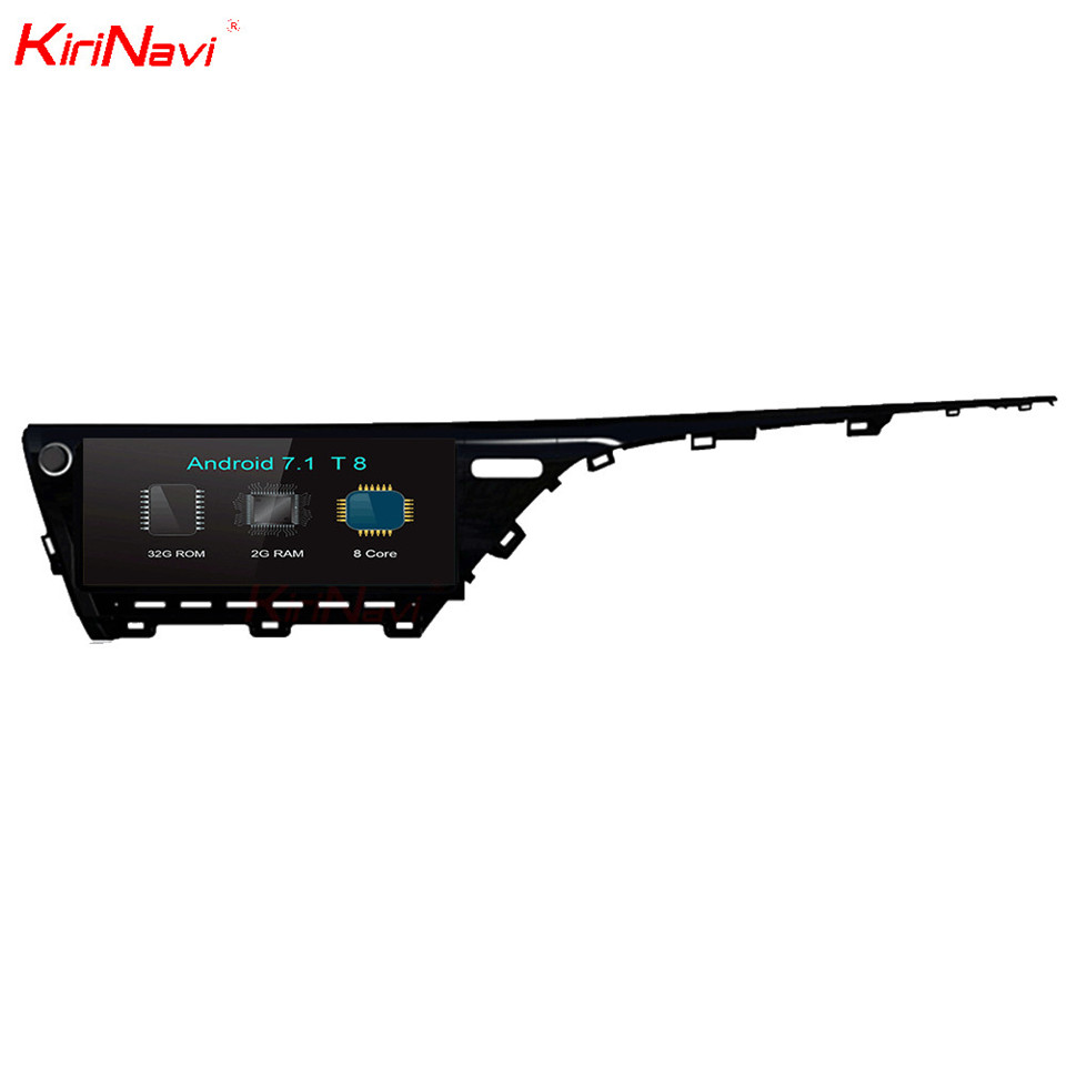 KiriNavi 12.3 Octa Core Android 7.1 Car DVD GPS For Toyota Camry Navigation System Multimedia Radio Stereo Head Unit Audio WIFI