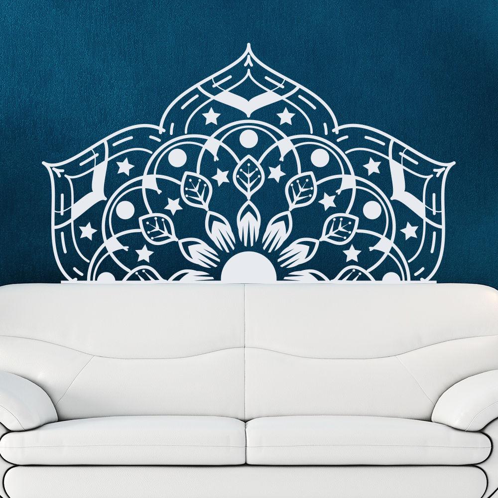 Half Mandala Wall Decal Yoga Studio Sticker Bohemian Style Bedroom Fashion Home Decor Art Mural Living Room Window Design La754 Wall Stickers Aliexpress