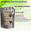 60 gramos de hongo reishi Ganoderma lucidum polvo de cordyceps polvo de hierbas para la diabetes tónico de la salud para la diabetes