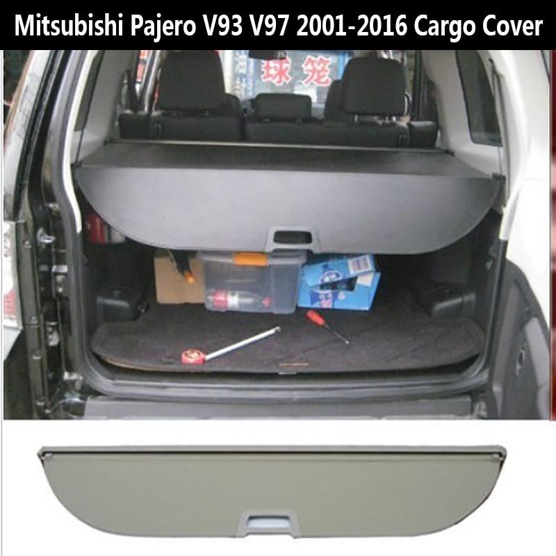 For For Mitsubishi Pajero V97 V93 V73 2003-2009 Rear Cargo privacy Cover Trunk Screen Security Shield shade (Black, beige) Mitsubishi Pajero