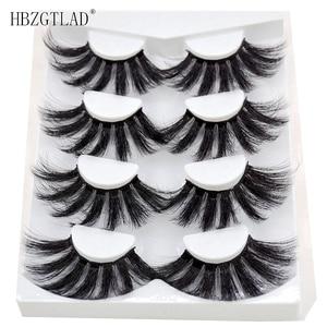 Image 4 - 4/9 Pairs 3D Mink Hair False Eyelashes Criss cross Wispy Cross Fluffy length 16 25mm Lashes Extension Handmade Eye Makeup Tools