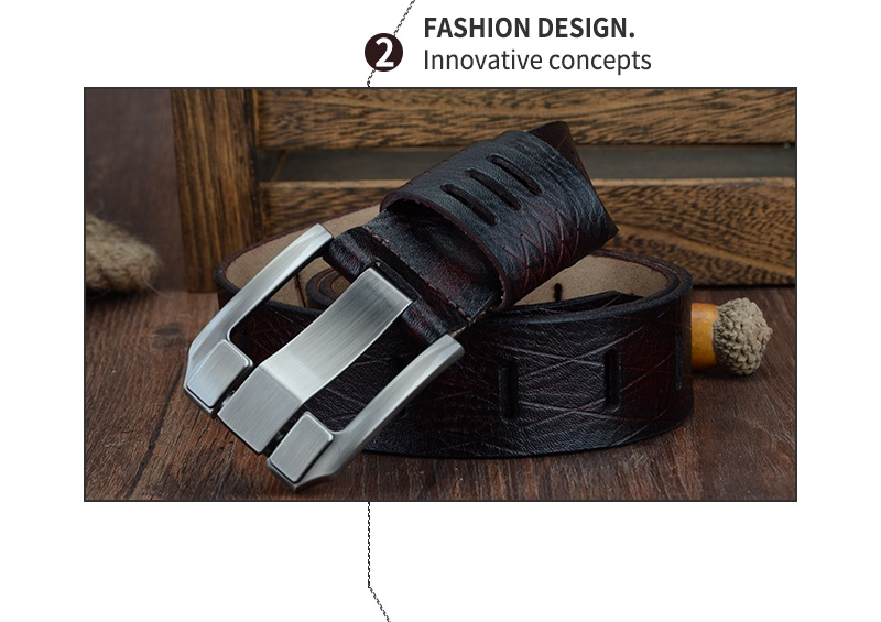 COWATHER 2017 QUALITY cow genuine luxury leather men belts for men strap male pin buckle BIG SIZE 100-130cm 3.8 width QSK001 9
