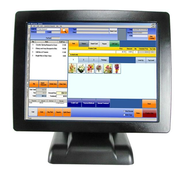 Compos POS Terminal  All In One POS System With Card Reader  POS2120 For Restaurant Cash Register