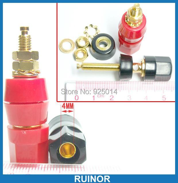 ФОТО 20X Gold plating Binding Post FOR 4MM Banana plug socket Power amplifier Speaker
