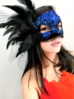 Venetian gorge lace mask feather masquerade mask Halloween masks-in Party  Masks from Home & Garden on Aliexpress.com | Alibaba Group