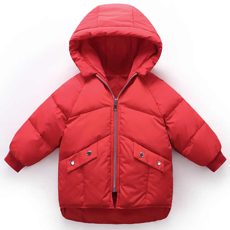 9199a20f814a ... 2018 Winter Girls Coats High Quality Boys Jacket Hooded Kids Outerwear  Clothing Baby Boy Coat Children ...