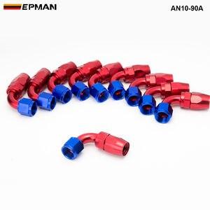 Image 5 - 10pcs /set 90Degree High Performance AN10 Hose End Fitting Aluminum oil cooler hose fitting  AN10 90A