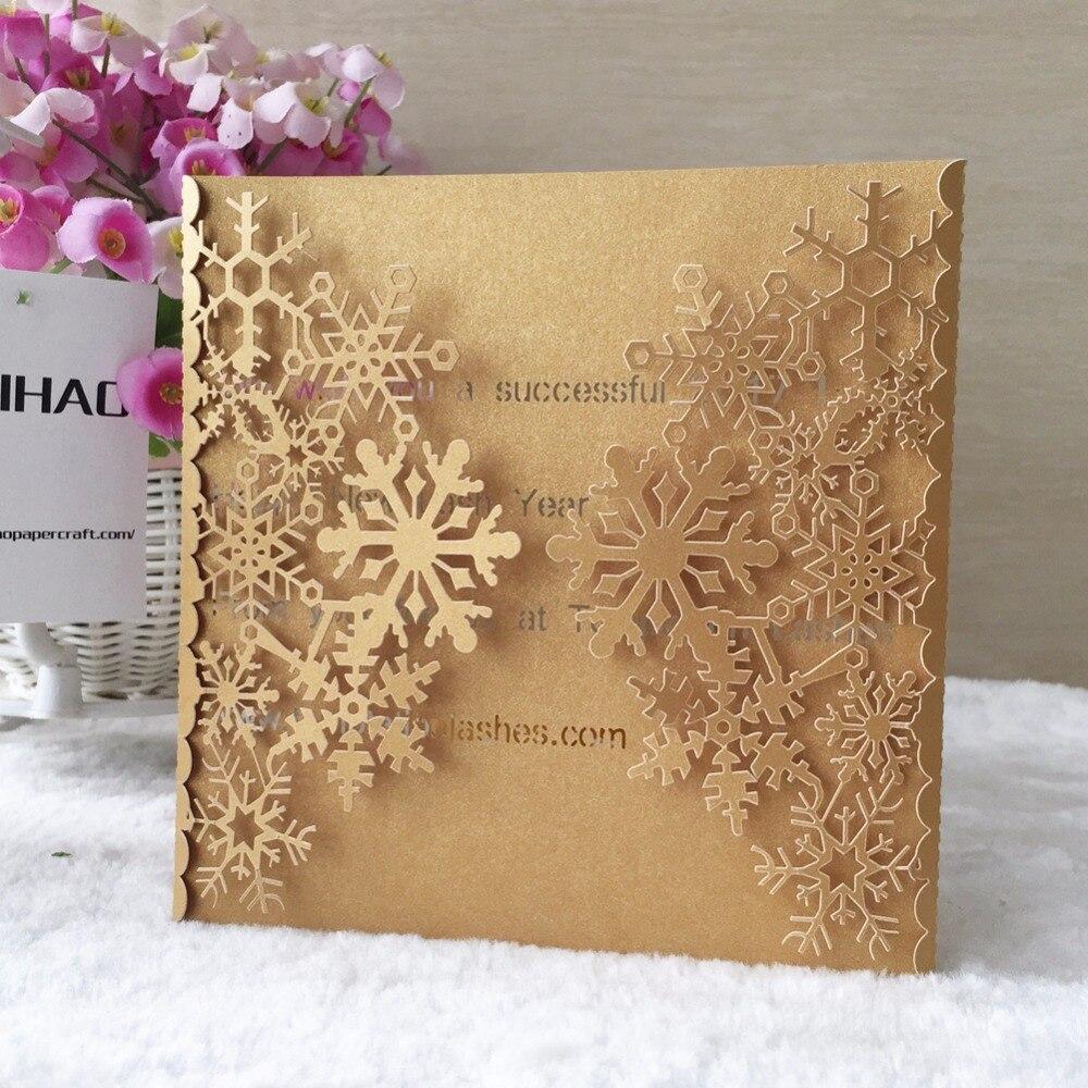 50pcs Snowflake Shiny Paper Business/Party/Birthday Laser Wedding ...