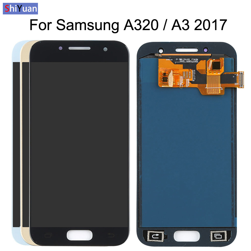 4 7 quot A320 LCD For Samsung Galaxy A3 2017 A320 A320M A320F LCD Display Touch Screen Digitizer Assembly Brightness Replacement in Mobile Phone LCD Screens from Cellphones amp Telecommunications