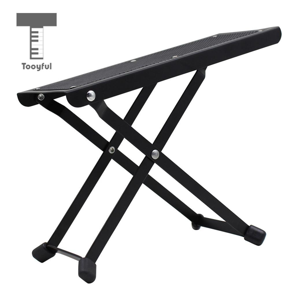 tooyful foldable guitar foot rest footstool pedal for guitarist guitar practice perform. Black Bedroom Furniture Sets. Home Design Ideas