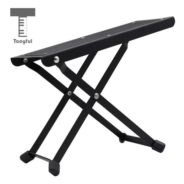 Tooyful Foldable Guitar Foot Rest Footstool Pedal For