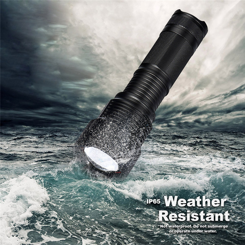B2 Zoomable 10000LM XM-L T6 LED Flashlight Torch Tactical Light Lamp 26650 Aluminum Alloy Camping & Hiking Wholesales&Retails