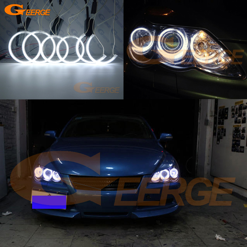 For Toyota Mark X Mark-X REIZ 2004-2009 Excellent angel eyes Ultra bright headlight illumination CCFL Angel Eyes Halo Ring kit for alfa romeo 147 2000 2001 2002 2003 2004 halogen headlight excellent ultra bright illumination ccfl angel eyes kit halo ring