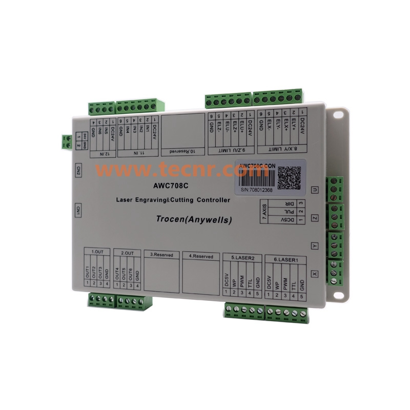 CO2 lézer DSP vezérlő rendszer Trocen AWC708C Lite lézervágó - Szerszámgépek és tartozékok - Fénykép 5