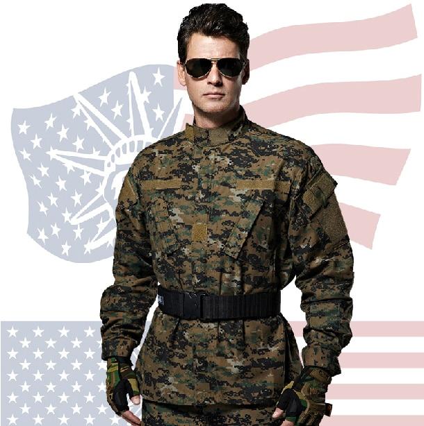 US Military Army Combat Uniform Digital Camo Genouillères Taille L