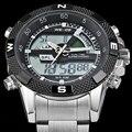 Marca de luxo Relógios Homens de Quartzo dos homens WEIDE LEVOU Display Digital Relógio Homem Do Exército Militar Esporte Relógio de Pulso Relogio masculino 2016