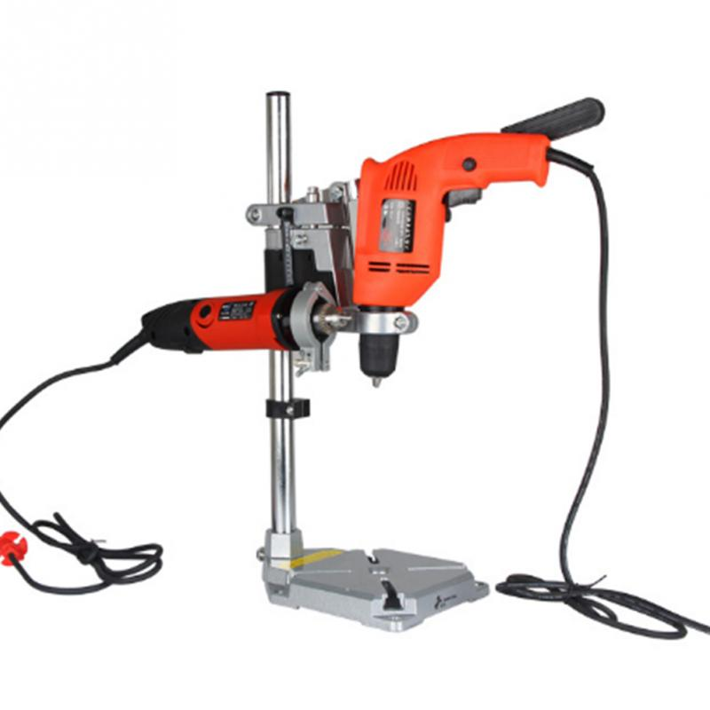 Dremel Electric Drill Stand Power Tools Accessories Double Hole Drill Press Stand DIY Tool Base Frame Drill Holder Drill #0907 electric drill stand bench drill press stand diy workbench repair tool base frame drill holder drill chuck clamp power tools