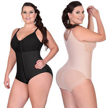 CR Plus Size 6XL Hot Latex Women's Body Shaper Post Liposuction Girdle Clip Zip Bodysuit Vest Waist Shaper Reductoras Shapewear