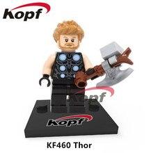 Single Sale Infinity War Super Heroes Thor Vision Thanos Captain America Iron Man Dolls Строительные блоки Детские подарочные игрушки KF460