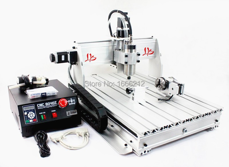 No tax  in EU LY CNC 6040Z-S80 4 axis CNC router with 1.5KW spindle CNC 6040 router s quire s quire ly b9 3