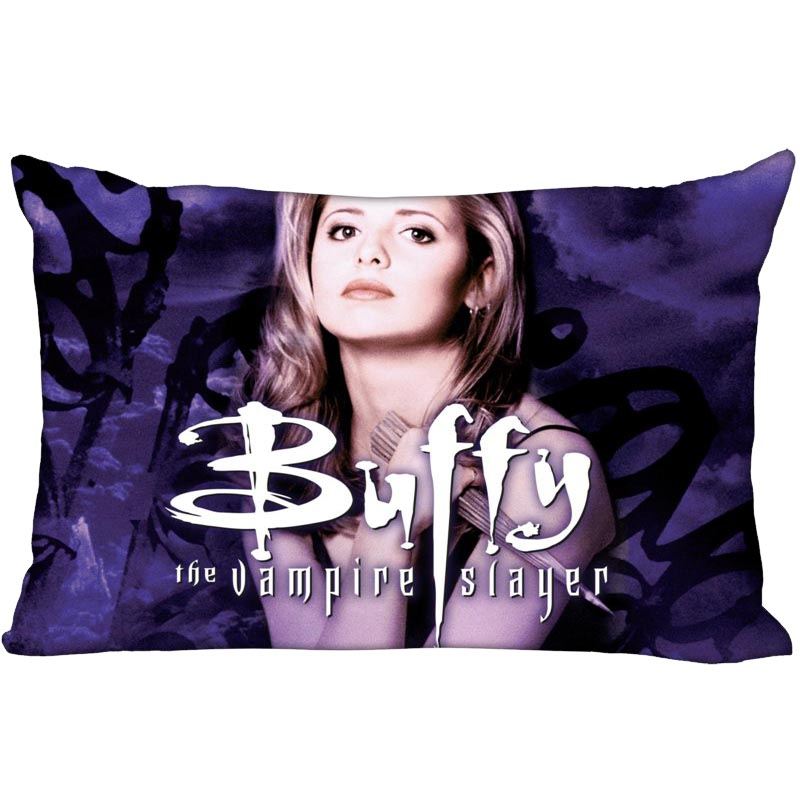 Custom Buffy 35X45cm Pillow Cover Cheap For Rest One Side Printed Funny Vintage Style Rectangular Pillowcase