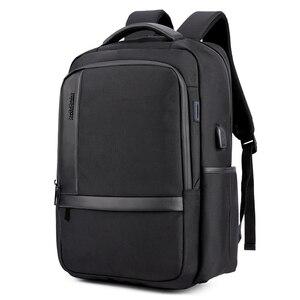 Image 1 - Sac à dos dordinateur portable 15.6 pouces étanche pour hommes, sacoche pour ordinateur portable, recharge externe USB, cartable décole