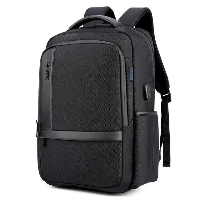 Sac à dos dordinateur portable 15.6 pouces étanche pour hommes, sacoche pour ordinateur portable, recharge externe USB, cartable décole
