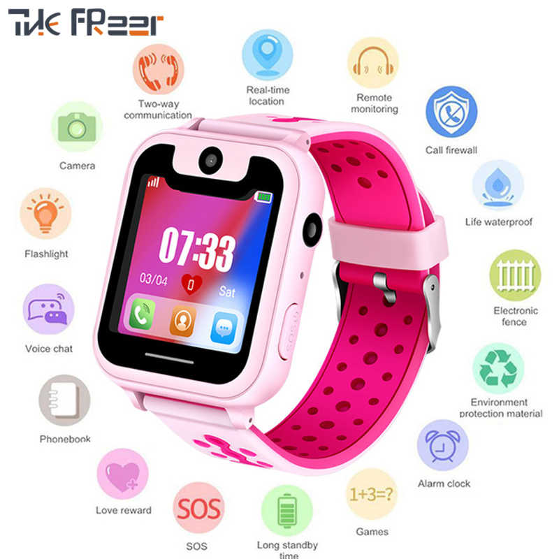 2019 New Top GPS Children's Watch  Kinder Caring for Children One-button Alarm SOS Notfall HandyErinnerung Smart Watch Men Woman