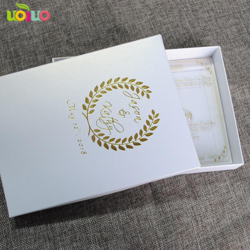 High Grade Luxurious Royal Wedding Invitation Card Clear Acrylic