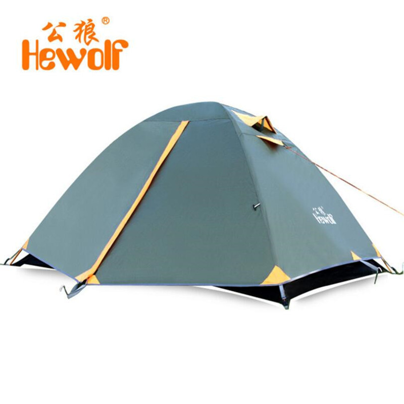 Outdoor Tienda Waterproof Camping Tents Ultralight Beach Bell Tent Double-layer Tourism Sun Shade 2 Person KU-605