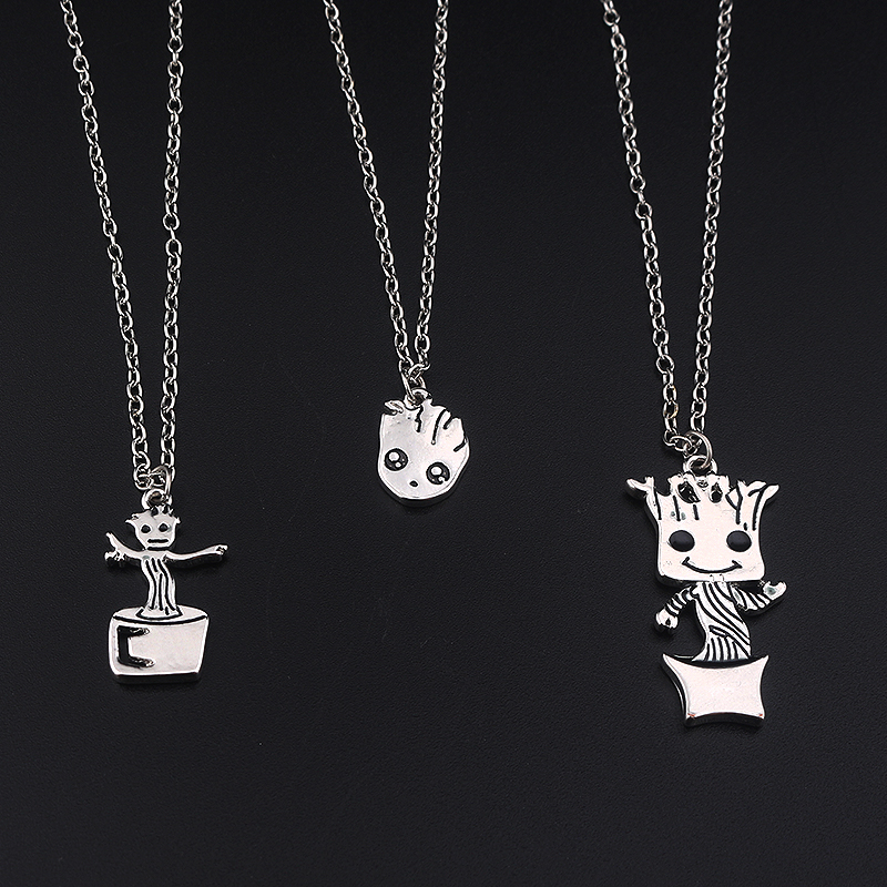 SG Fashion Film Silver Three Style Guardians of the Galaxy Charm Pendants Necklaces For Man And Women