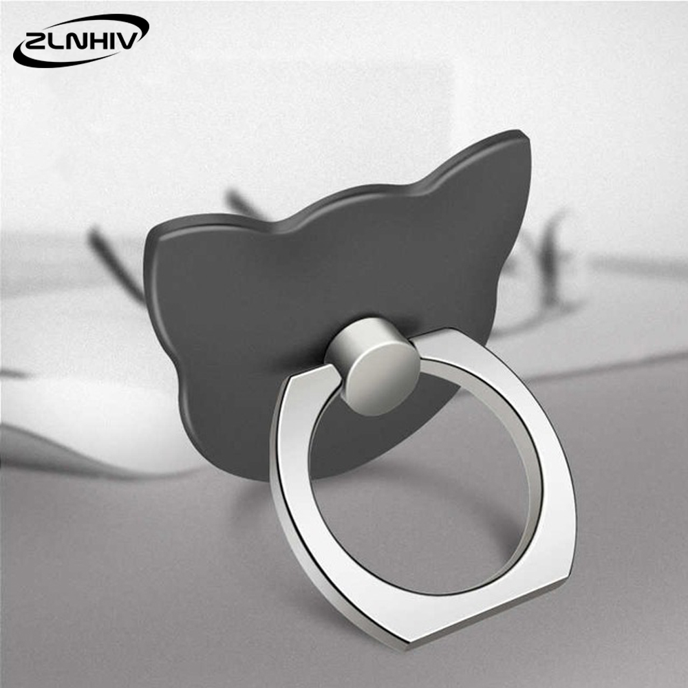 ZLNHIV Finger Ring Mobile Phone Holder Stand For Iphone Accessories Round Mount Smartphone Grip Support Cell Cellphone Desk