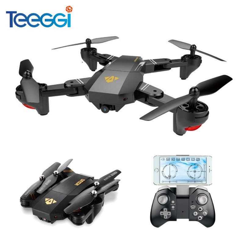 Teeggi VISUO XS809HW XS809W Selfie Drone With Wide Angle HD Camera WiFi FPV RC Quadcopter Helicopter Mini Dron VS Eachine E58 rc selfie quadcopter drone with camera wifi hd 5 0mp 1080p fpv drones remote control helicopter drone camera dron x21p