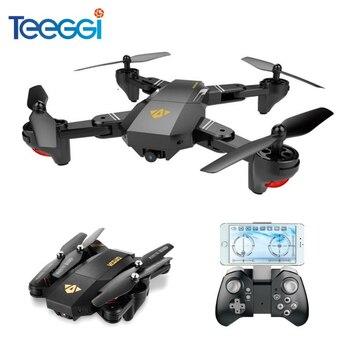 Teeggi visuo xs809hw xs809w селфи Дрон с Широкий формат HD Камера Wi-Fi FPV-системы RC Quadcopter Вертолет VS jjrc h47 Mini Дрон игрушечные лошадки