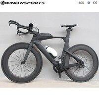 Китайский полный углерода Время пробный Велосипед Полная Триатлон TT велосипед 22 скорость Aero углерода tt велосипед рама 48/51 /54 см