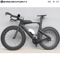 Chinese complete carbon time trial bicycle full triathlon TT bike 22 speed Aero carbon tt bicycle bike frame 48/51/54cm