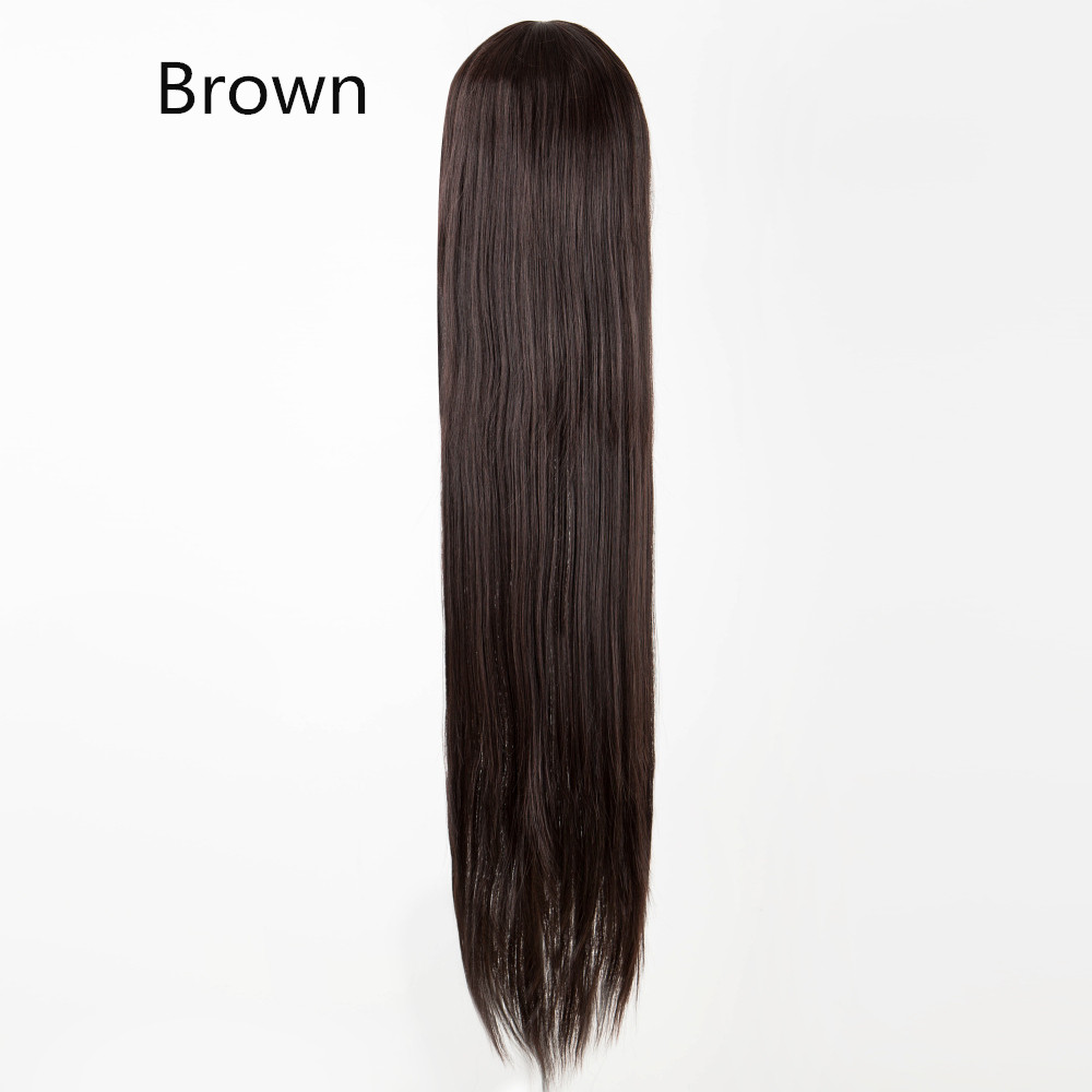фей-шоу белый парик 100 см/40 дюйм синтетические термостойкие волокно длинные хеллоуин костюм кос-играть карнавал прямо красоты волос