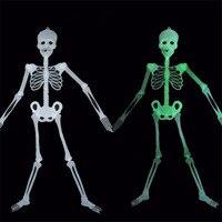 Scary Halloween Decoration Horror Luminous Movable Skull Skeleton Halloween Props Glow Evil Party Favors Fantasia Halloween