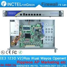 Управление Потоком ITX Брандмауэр ROS 6 Gigabit Сервер с E3 1230 V2 ПРОЦЕССОРА 1000 М 6 82574L 2 Групп Обход