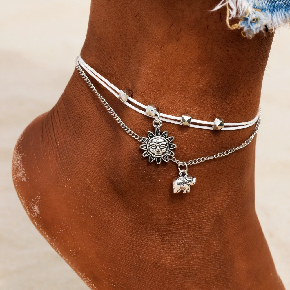 bracelet cheville corde