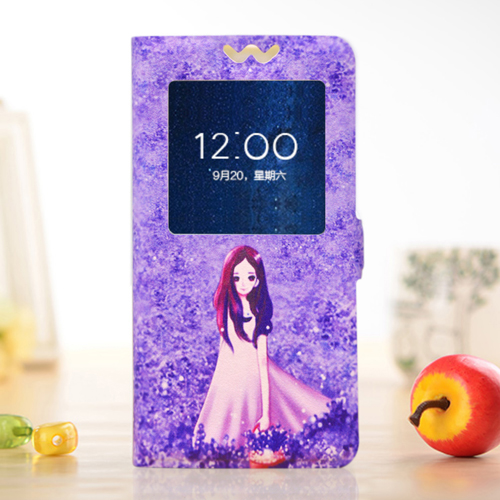 Vibe C2 Case Luxury Painted Cartoon Phone Case Flip Cover For Lenovo VibeC2 K10A40 5 0 39 39 Protective Shell Case With View Window in Flip Cases from Cellphones amp Telecommunications